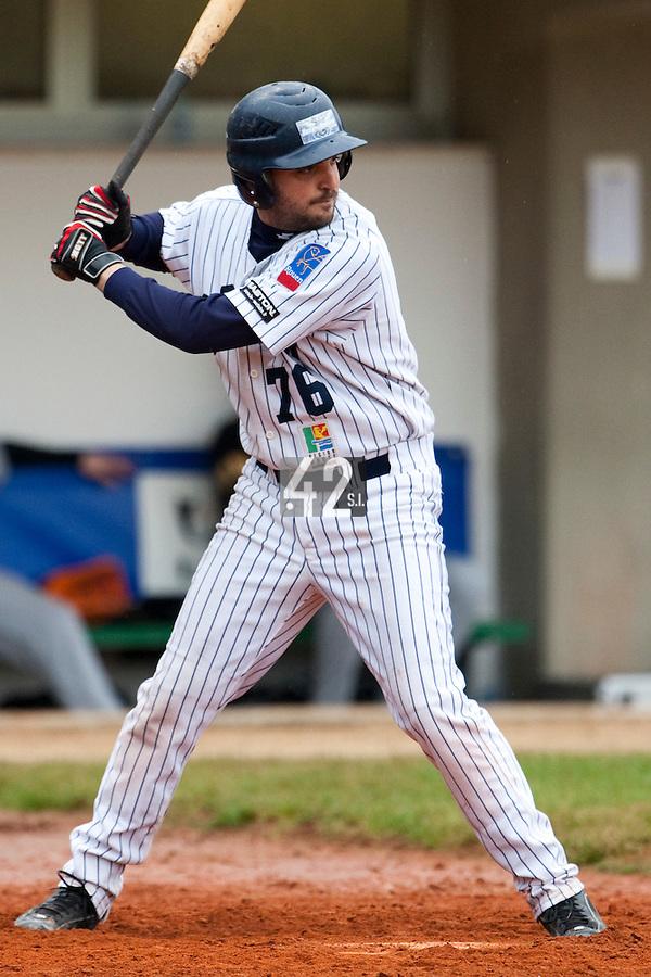 Baseball - European Cup 2009 - Nettuno (Italy) - 01/04/2009 - L&D Amsterdam v Rouen Baseball '76 - Flavien Peron
