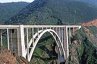 Big Sur CA:  Big Sur  Bridge.   Photo '86.