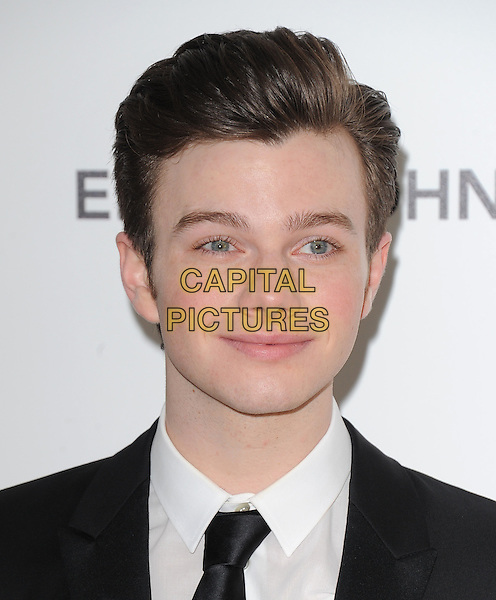 CHRIS COLFER.19th Annual Elton John AIDS Foundation Academy Awards Viewing Party held at The Pacific Design Center, West Hollywood, California, USA..February 27th, 2011.headshot portrait black white .CAP/RKE/DVS.©DVS/RockinExposures/Capital Pictures.