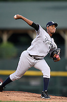 September 4, 2009:  Starting Pitcher Ivan Nova of the Scranton Wilkes-Barre Yankees delivers a pitch during a game at Frontier Field in Rochester, NY.  Scranton is the Triple-A International League affiliate of the New York Yankees and clinched the North Division Title with a victory over Rochester.  Photo By Mike Janes/Four Seam Images