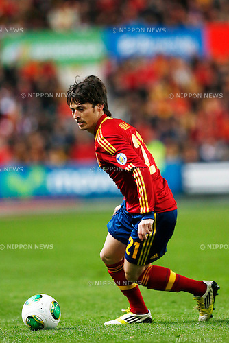 David Silva (ESP), MARCH 22, 2013 - Football / Soccer : FIFA World Cup Brazil 2014 Qualifier European Zone Group I match between Spain 1-1 Finland at Estadio Municipal El Molinon in Gijon, Asturias, Spain. (Photo by D.Nakashima/AFLO)