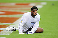 Aug. 22, 2009; Glendale, AZ, USA; San Diego Chargers running back LaDainian Tomlinson prior to the game against the Arizona Cardinals during a preseason game at University of Phoenix Stadium. Mandatory Credit: Mark J. Rebilas-