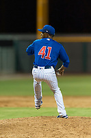 AZL Cubs 1 relief pitcher Fauris Guerrero (41) delivers a pitch during an Arizona League game against the AZL Padres 1 at Sloan Park on July 5, 2018 in Mesa, Arizona. The AZL Cubs 1 defeated the AZL Padres 1 3-1. (Zachary Lucy/Four Seam Images)