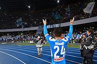 26th January 2020; Stadio San Paolo, Naples, Campania, Italy; Serie A Football, Napoli versus Juventus; Lorenzo Insigne celebrates the 2-1 win