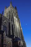 Duke Chapel, night