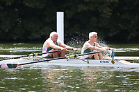 Race: 79  MasH.2x  Semi-Final<br /> 374  Wallingford RC/Quintin BC Composite<br /> 375  Auriol Kensington Rowing Club<br /> <br /> Henley Masters Regatta 2018 - Friday<br /> <br /> To purchase this photo, or to see pricing information for Prints and Downloads, click the blue 'Add to Cart' button at the top-right of the page.