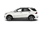 Car Driver side profile view of a 2017 Mercedes Benz GLE-Class AMG-GLE43 5 Door SUV Side View