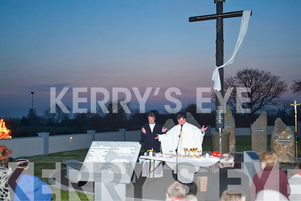 MASS: The Dawn Mass was celebrated in Tarbert at the Resurrection Monument on Easter Sunday by Fr Francis Nolan PP, Tarbert, and Fr Donal OConnor, Listowel..