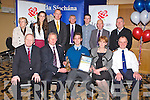 Gerard Mulvihill, Listowel who recivied his distinction award at the Kerry Garda achievement award at the Ballyroe Heights hotel, Tralee on Friday seated l-r: John O'Sullivan (general manager Lee Strand), Brendan Walsh (chairman Lee Strand), Gerard Mulvihill, Noreen Mulvihill and Chief Superintendent Pat Sullivan. Back l-r: Phil Sugrue, Barbra Mulvihill, Liam Hassett, Paddy Mulvihill, Greard Dowling, John Sugrue and Gerry Duggan.