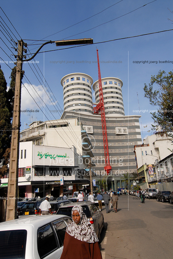 "Afrika Kenia Nairobi , Nation Media Building der Aga Khan Gesellschaft im  Zentrum -  Staedte Afrikaner afrikanisch xagndaz | .Africa Kenya Nairobi , Nation Media Building of Aga Khan in city center downtown .| [ copyright (c) Joerg Boethling / agenda , Veroeffentlichung nur gegen Honorar und Belegexemplar an / publication only with royalties and copy to:  agenda PG   Rothestr. 66   Germany D-22765 Hamburg   ph. ++49 40 391 907 14   e-mail: boethling@agenda-fototext.de   www.agenda-fototext.de   Bank: Hamburger Sparkasse  BLZ 200 505 50  Kto. 1281 120 178   IBAN: DE96 2005 0550 1281 1201 78   BIC: ""HASPDEHH"" ,  WEITERE MOTIVE ZU DIESEM THEMA SIND VORHANDEN!! MORE PICTURES ON THIS SUBJECT AVAILABLE!! ] [#0,26,121#]"