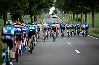 Front group in echelon formation. <br /> <br /> Circuit de Wallonie 2019<br /> One Day Race: Charleroi – Charleroi 192.2km (UCI 1.1.)<br /> Bingoal Cycling Cup 2019