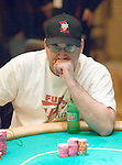 Mike Matusow all in and reaction as he watches.  He busted out on this hand in 48th. place.