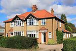 Inter war semi-detached houses Burkitt Road, Woodbridge, Suffolk, England, UK
