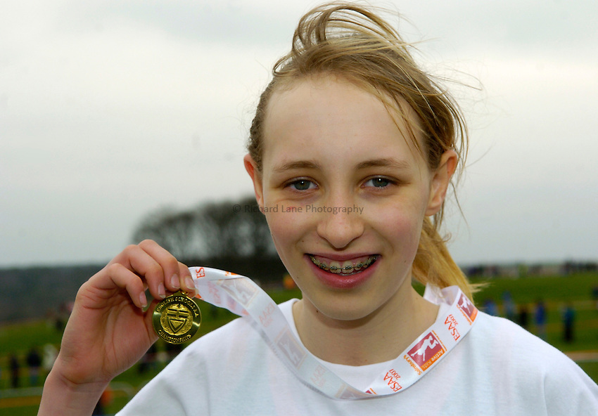 Photo: Jed Wee/Richard Lane Photography..Sainsbury's English Schools Cross Country. 24/03/2007...Junior girls gold medalist Katie Holt.