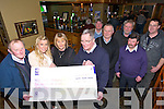 Gerard McCathy and Katrina McCarthy, Banna were presented with a Cheque for €8,100 after winning the Ballyheigue Coursing Club Lotto by Teresa Reidy, Maurice McElligott  and Members Tom Joe Haze, John Reidy, Pat McElligott, Francis Lawlor and  Paul O'Connor