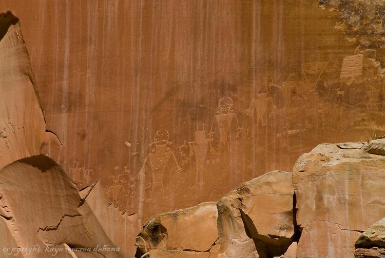 Landscapes of Capitol Reef National Park-petroglyphs