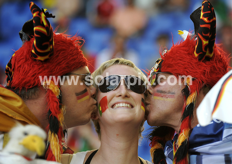 **ALL ROUND PICTURES FROM SOLARPIX.COM**.**SYNDICATION RIGHTS FOR UK AND SPAIN ONLY**.Euro 2008 European Football Championship being held in Austria/Switzerland. Quarter Final, match 25, Portugal vs Germany, at the St. Jakob Park Stadium, Basel, Switzerland. 19th June 2008 ..This pic: Portugal Fans..JOB REF: 6690 CPR/Torsten Silz.DATE: 19_06_2008.**MUST CREDIT SOLARPIX.COM OR DOUBLE FEE WILL BE CHARGED* *UNDER NO CIRCUMSTANCES IS THIS IMAGE TO BE REPRODUCED FOR ANY ONLINE EDITION WITHOUT PRIOR PERMISSION*