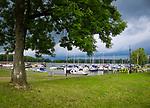 Sztynort, 2018.07.12.  Marina w Sztynorcie, największy port na Mazurach, położony w centrum północnej części Mazur na szlaku Wielkich Jezior w miejscu w którym łączą się jeziora Mamry i Dargin.