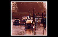 River Arun - Arundel, West Sussex - 1998 - <br /> <br /> As early as 150 AD, the Arun was recorded as the Trisantonis in Ptolemy's Geography. The river runs for approximately 25 miles from source to the sea, and is one of the faster flowing in England.