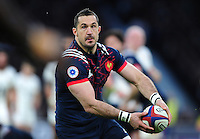 Scott Spedding of France looks to pass the ball. RBS Six Nations match between England and France on February 4, 2017 at Twickenham Stadium in London, England. Photo by: Patrick Khachfe / Onside Images