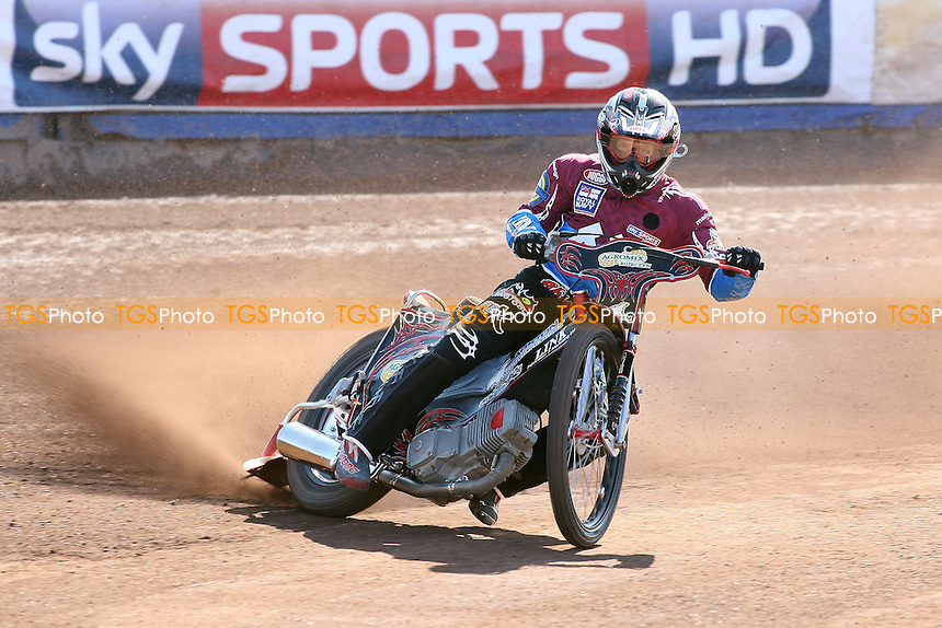 Adam Shields of Lakeside Hammers in riding action - Lakeside Hammers Speedway Press & Practice Day at Arena Essex Raceway, Purfleet, Essex - 23/03/11 - MANDATORY CREDIT: Gavin Ellis/TGSPHOTO - Self billing applies where appropriate - Tel: 0845 094 6026