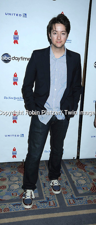 """Bradford Anderson  posing for photographers at The ABC Daytime Salutes Broadway Cares/ Equity Fights Aids """" An Evening of Musical Entertainment and Comedy""""  Benefit after party  on March 13, 2011 at the Marriott Marquis Hotel in New York City."""