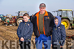 Clashmealcon, Causeway Ploughing Match at Houlihan's farm on Sunday Pictured were l-r  Colin Wharton, Tony Wharton and Ryan Wharton from Killarney
