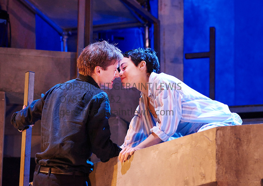 Romeo and Juliet by William Shakespeare, directed by Sally Cookson. With Joseph Drake as Romeo, Audrey Brisson as Juliet.  Opens at The Rose Theatre, Kingston upon Thames  on 4/3/15. CREDIT Geraint Lewis