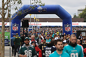 1st October 2017, Wembley Stadium, London, England; NFL International Series, Game Two; Miami Dolphins versus New Orleans Saints; NFL fans descend on Wembley Stadium