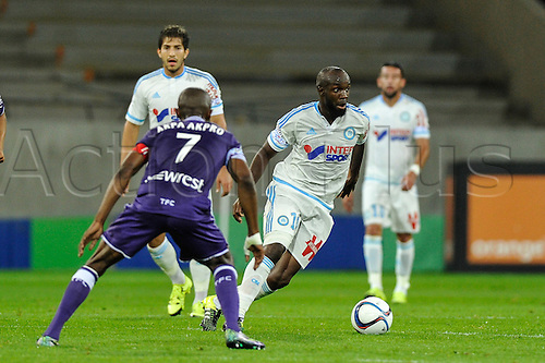 23.09.2015. Toulouse, France. French League 1 football. Toulouse versus Marseille.  Lassana Diarra (om)