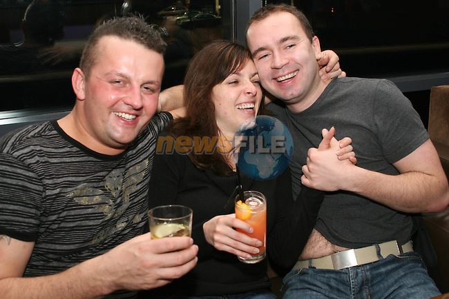 Robert, Julia and Radek in Bru...Photo NEWSFILE/Jenny Matthews.(Photo credit should read Jenny Matthews/NEWSFILE)....This Picture has been sent you under the condtions enclosed by:.Newsfile Ltd..The Studio,.Millmount Abbey,.Drogheda,.Co Meath..Ireland..Tel: +353(0)41-9871240.Fax: +353(0)41-9871260.GSM: +353(0)86-2500958.email: pictures@newsfile.ie.www.newsfile.ie.FTP: 193.120.102.198.