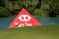 Justin Rose (ENG) on the 2nd during the final round at the WGC HSBC Champions 2018, Sheshan Golf CLub, Shanghai, China. 28/10/2018.<br /> Picture Fran Caffrey / Golffile.ie<br /> <br /> All photo usage must carry mandatory copyright credit (&copy; Golffile | Fran Caffrey)