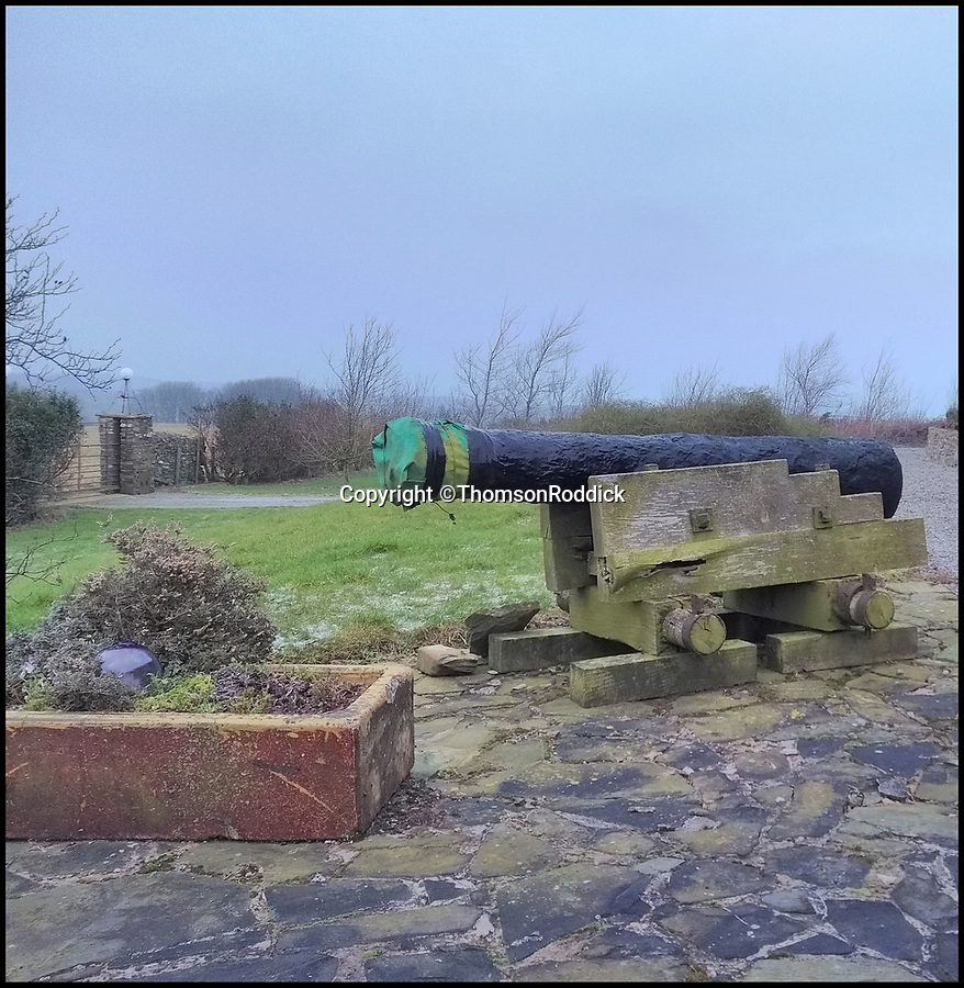 BNPS.co.uk (01202 558833)Pic: ThomsonRoddick/BNPS<br /> <br /> A cannon from the doomed ship HMS Bounty has sold for £20,000 after being found on a Scottish estate.<br /> <br /> The valuable gun was salvaged from the vessel by the rebellious crew in the wake of the Mutiny on the Bounty 229 years ago.<br /> <br /> After casting their commander, Captain Bligh, adrift the crew set on fire and sunk the Bounty off Pitcairn Island in the Pacific Ocean.<br /> <br /> It was sold by Dumfries-based auctioneer Thomson Riddick who said its discovery meant the whereabouts of all four cannons on the Bounty were finally now known.