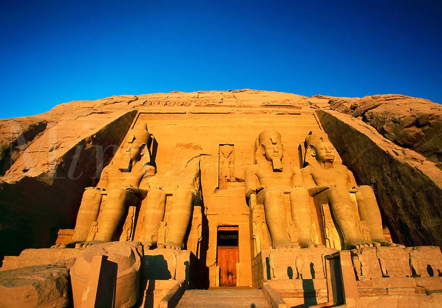 Great Temple of Abu Simbel built by Ramses II Abu Simbel Egypt.
