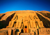 Great Temple of Abu Simbel built by Ramses II Abu Simbel Egypt.