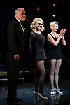 """Christie Brinkley kicks off her third run as """"Roxie Hart"""" in CHICAGO on Broadway with Tom Hewitt and Amra-Faye Wright at the the Ambassador on April 18, 2019 in New York City."""