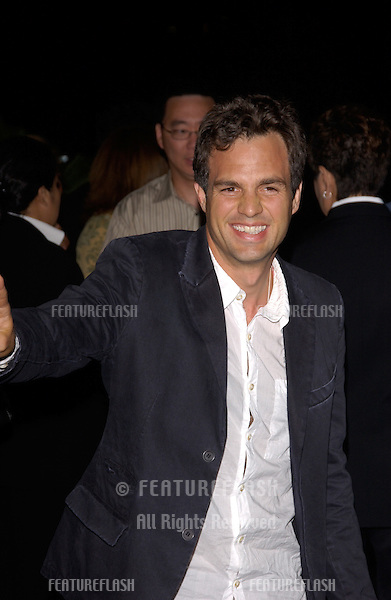 Actor MARK RUFFALO at the DVD launch party, in Los Angeles, for his movie Eternal Sunshine of the Spotless Mind..September 23, 2004
