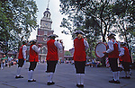 Early American Fife and Drum Band, Independence Plaza, Independence Hall, Independence National Historic Park, Philadelphia, PA