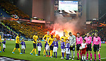 12.12.2019 Rangers v Young Boys Bern: Young Boys fans with pyro