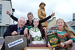'I'll be back for Puck': Pictured launching Puck Fair 2017, at 'The Diaspora Lady' statue on Iveragh Road, Killorglin, were 2016 World Coastal Rowing Champion, Monika Dukarska, (who is aspiring to qualify for the Olympics), Caitlin Horgan, Puck Fair Queen and Pupil in Scoil Mhuire, Killorglin, Lady in Waiting Sue Eyers  and Declan Mangan, Chair of Puck Fair. Puck Fair 2017, Ireland's oldest festival, runs from 10-12 August in Killorglin, Co. Kerry. The three day festival attracts visitors from all over Ireland and the world including the Irish diaspora, who come to see the coronation of the wild mountain goat and enjoy 36 hours of FREE family entertainment. www.puckfair.ie <br /> Picture: Don MacMonagle<br /> <br /> NO REPRO FEE. For more information contact: Judy Hopkins, Hopkins Communications<br /> 021 5005994 / 086 3120752 / judy@hopkinscommunications.ie <br /> <br /> Issued July 3rd 2017