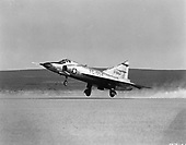 "The primary mission of the F-102 ""Delta Dagger"" was to intercept and destroy enemy aircraft. It was the world's first supersonic all-weather jet interceptor and the  United States Air Force's (USAF) first operational delta-wing aircraft. The F-102 made its initial flight on October 24, 1953 and became operational with the Air Defense Command in 1956. At the peak of deployment in the late 1950's, F-102s equipped more than 25 ADC squadrons. Convair built 1,000 F-102s, 875 of which were F-102As. .Credit: U.S. Air Force via CNP"