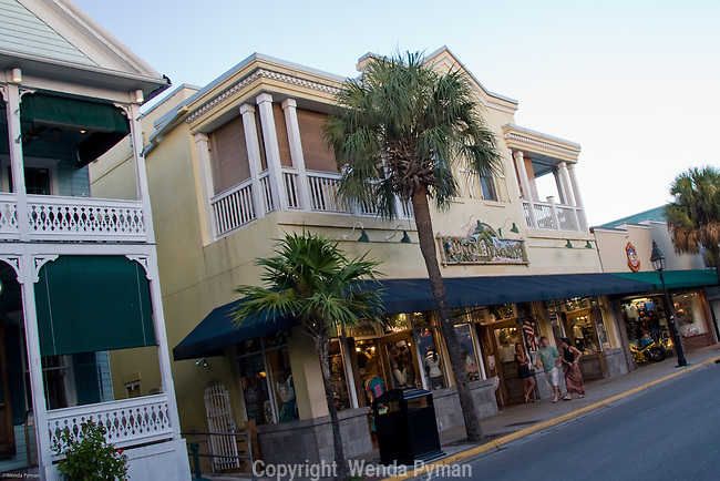 Shops and lodging on Duval St.