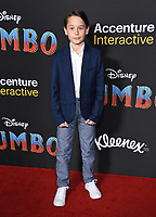 11 March 2019 - Hollywood, California - Finley Hobbins. &quot;Dumbo&quot; Los Angeles Premiere held at Ray Dolby Ballroom. Photo <br /> CAP/ADM/BT<br /> &copy;BT/ADM/Capital Pictures