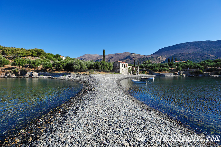 The unique village Kotronas in Eastern Mani, Greece