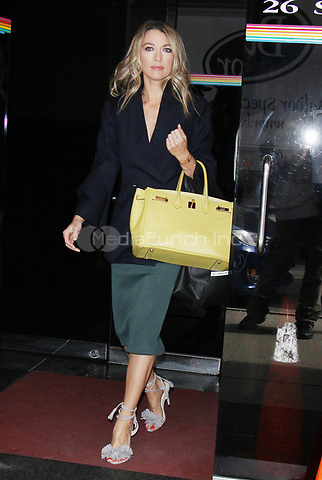 NEW YORK, NY - APRIL 13:  Natalie Zea seen with her yellow Hermes Birkin Bag leaving The Wendy Williams Show promoting the new season of  the TBS comedy series 'The Detour' in New York City on April 13,  2017. Credit: RW/MediaPunch