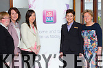 Mary Ruddy ( KBN committee ) Liz Maher (KBN organiser ) Elaine Tierney ( AIB ) Siobhan Barrett ( AIB ) and Jean Quill ( Kerry Business Women ) at the Business Expo 2015 in Fels Point hotel on Sunday