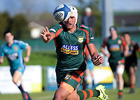 Pakuranga's Niukula Osika passes during the Auckland Premier club rugby Alan McEvoy Trophy match between Pakuranga and Grammar TEC at Bell Park in Auckland, New Zealand on Saturday, 9 June 2018. Photo: Dave Lintott / lintottphoto.co.nz