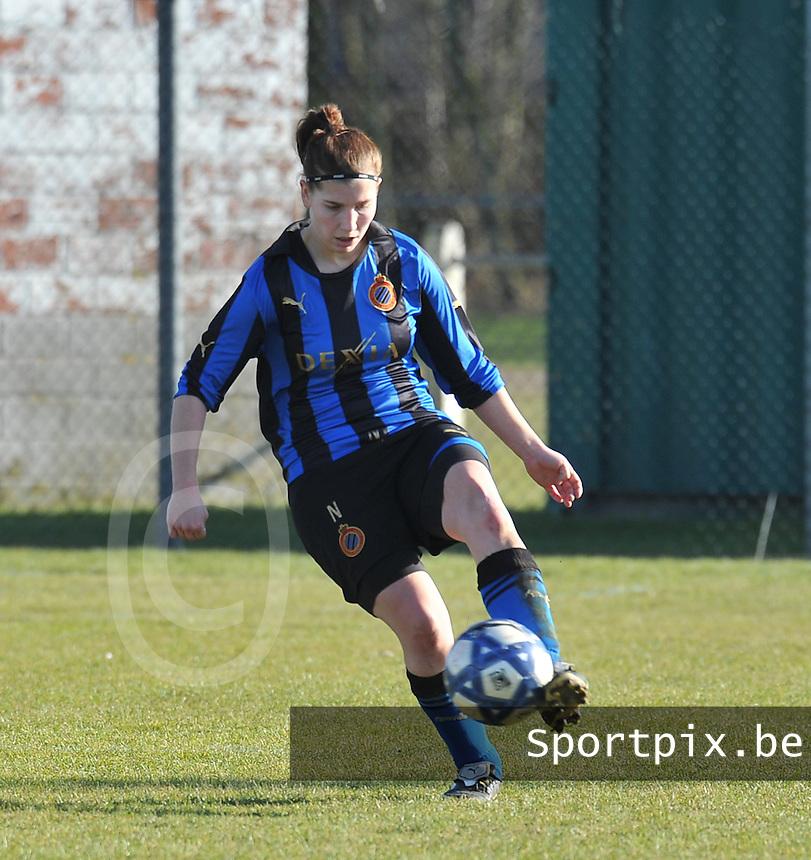 Club Brugge Dames : Lita Pouseele.foto Joke Vuylsteke / Vrouwenteam.be / Loft6.be