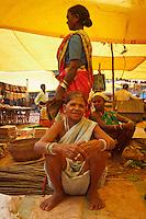 Abhujmaria women at Narayanpur market in Chhattisgarh india
