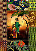 Kris, ETHNIC, paintings,+indigenous, women++++,PLKKE377,#ethnic# Africa